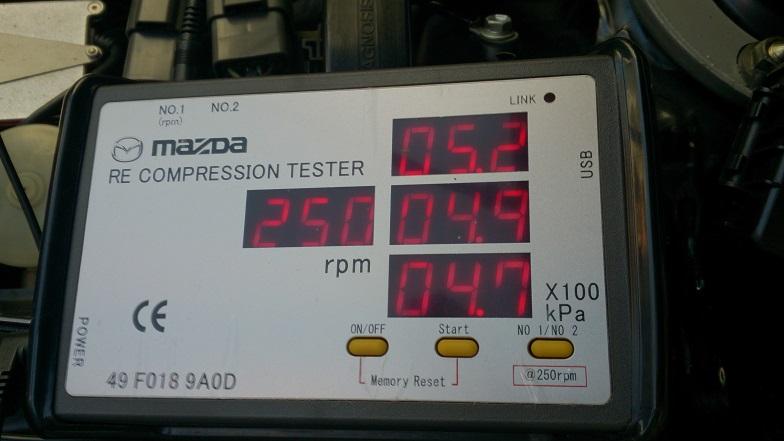 Mazda RX8 compression test - MX5 Motors